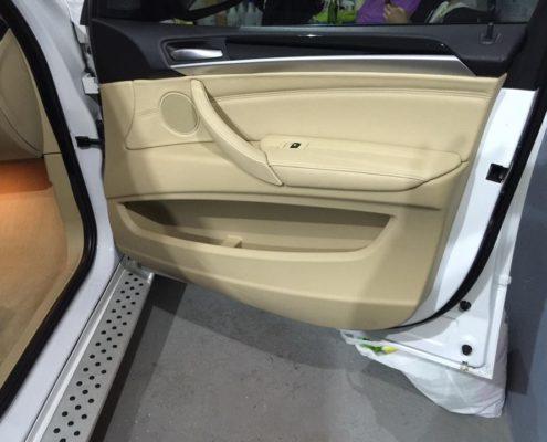 Detailing auto interior portiera