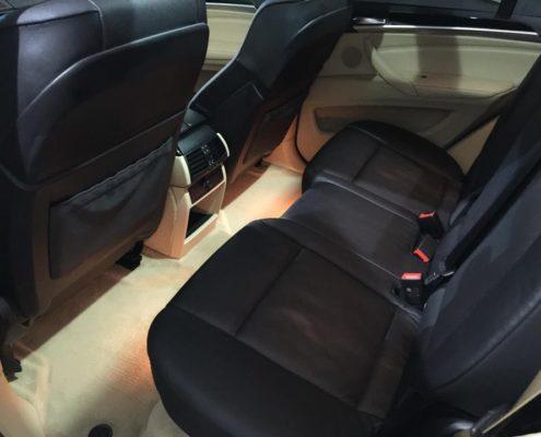 Detailing auto interior scaune spate