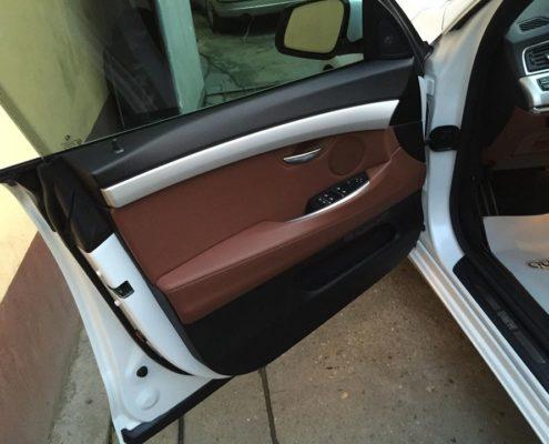 Detailing auto de interior portiera